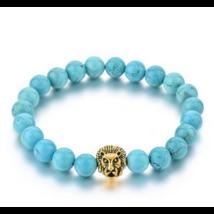Kék howlit oroszlános ásványkarkötő