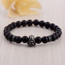 Darth Vader cirkónia-matt ónix karkötő