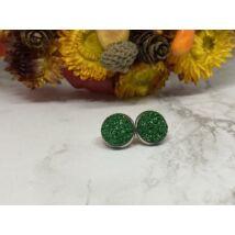 Zöld csillogós fülbevaló