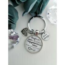 Feliratos kulcstartó nagymamáknak