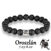 Lávakő horoszkópos ásványkarkötő - OROSZLÁN