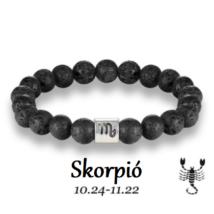 Lávakő horoszkópos ásványkarkötő - Skorpió