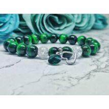 Méregzöld szerelem ásványkarkötő