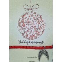 Karácsonyi karkötő kísérőkártyával