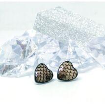 Bronz színű sellő szív fülbevaló
