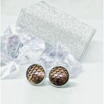Bronz színű sellő fülbevaló