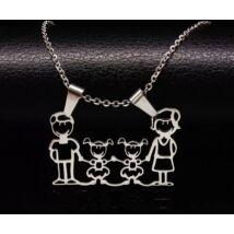 Family nyaklánc- Anya, Apa, két kislány