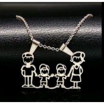 Family nyaklánc - Apa, Anya, két kisfiú