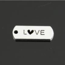 LOVE feliratos biléta fityegő (csak kulcstartóhoz/ékszerhez rendelhető)