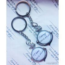 Egyedi feliratos horgony kulcstartó szett ( 2db /szett )