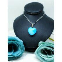 Kék achát ásvány nyaklánc