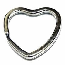 Szív alakú kulcskarika (csak kulcstartóhoz/ékszerhez rendelhető)