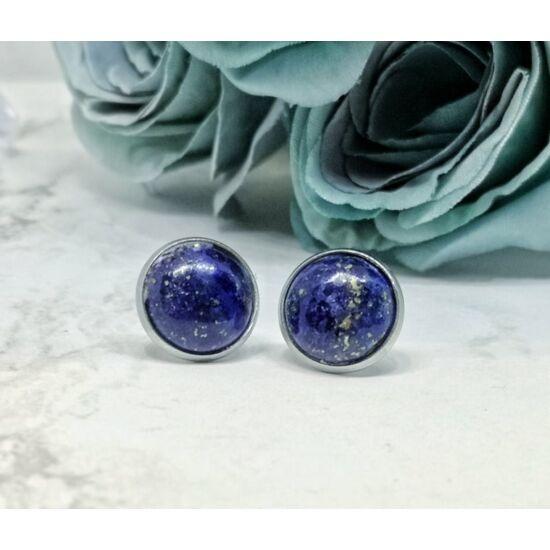 Lapis lazuli ásvány fülbevaló