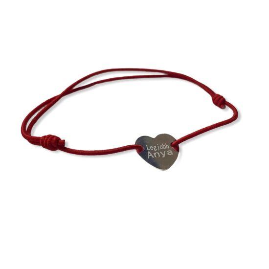 Legjobb Anya feliratos karkötő-piros