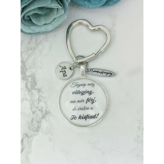 Szülőköszöntő ajándék kulcstartó