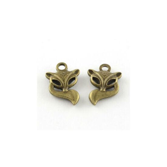 Antikolt bronz róka fityegő (csak kulcstartóhoz/ékszerhez rendelhető)