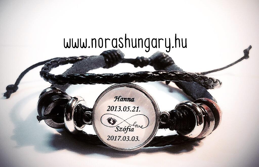 9e87911231 Egyedi névre szóló karkötő bőrszíjjal - FÉRFI KARKÖTŐK